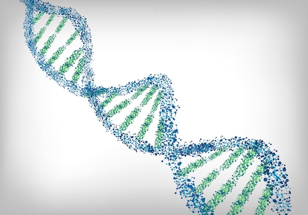 Dna green white background