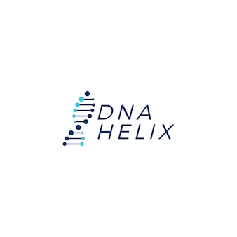 Dna helix strand vector logo element illustration