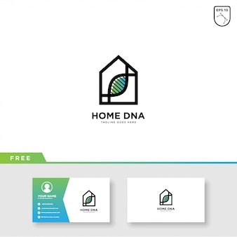 Dna home logo vector and business card template