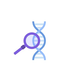 Dna icon in flat style. vector illustration.