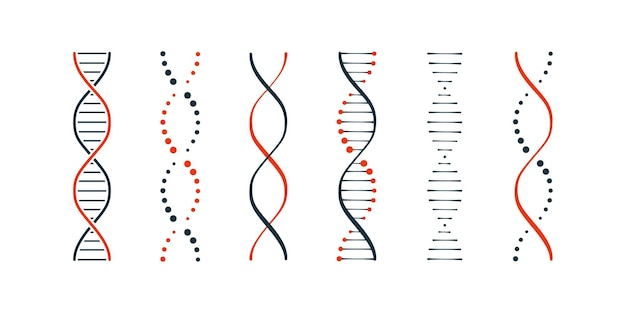 Dna 아이콘 간단한 그림 설정