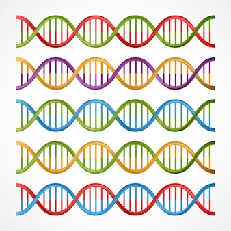 Dna icons, symbols for science and medicine