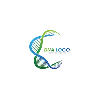 Dna logo design template. modern medical logotype.