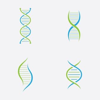 Dna logo vector medical icon
