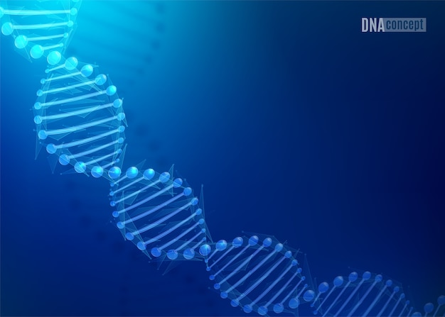 Sfondo di tecnologia scientifica del dna
