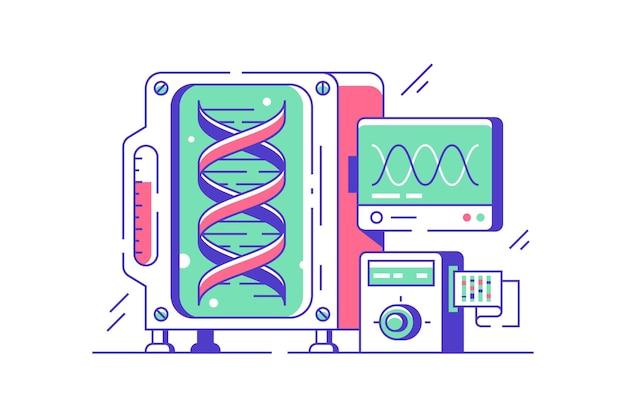 Иллюстрация научных исследований днк