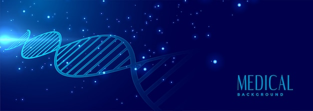 Dna sign medical and healthcare banner