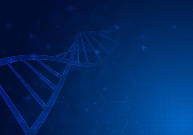 Dnaスパイラル分子抽象的な多角形ワイヤーフレームdna分子らせんスパイラル医学