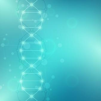 Dna 가닥 배경 및 유전 공학 또는 실험실 연구
