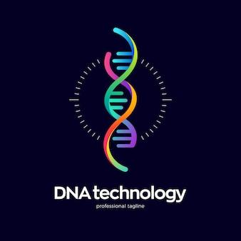 Dna 기술 로고 디자인