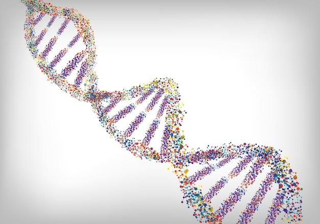 Dna white background