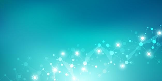 分子構造とニューラルネットワーク。分子dnaおよび遺伝子研究。