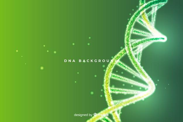 緑の抽象的なdna構造の背景