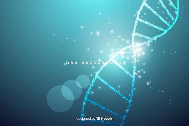 ブルー抽象的なdna構造の背景