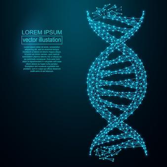 Dna多角形の遺伝子工学の抽象的な背景。