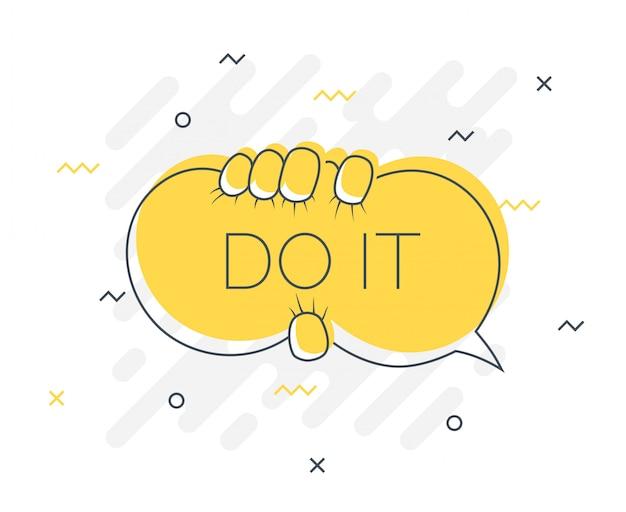 Значок «быстрые советы» с речевым пузырем do it.