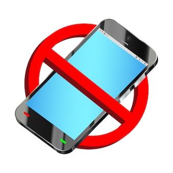 スマートフォン禁止標識ベクトルを使用しないでください