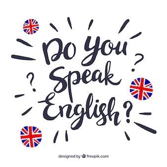 あなたは英語のレタリングの背景を話しますか?