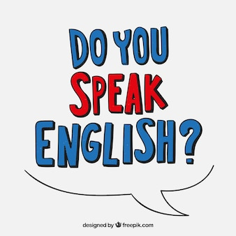 Do you speak english lettering background