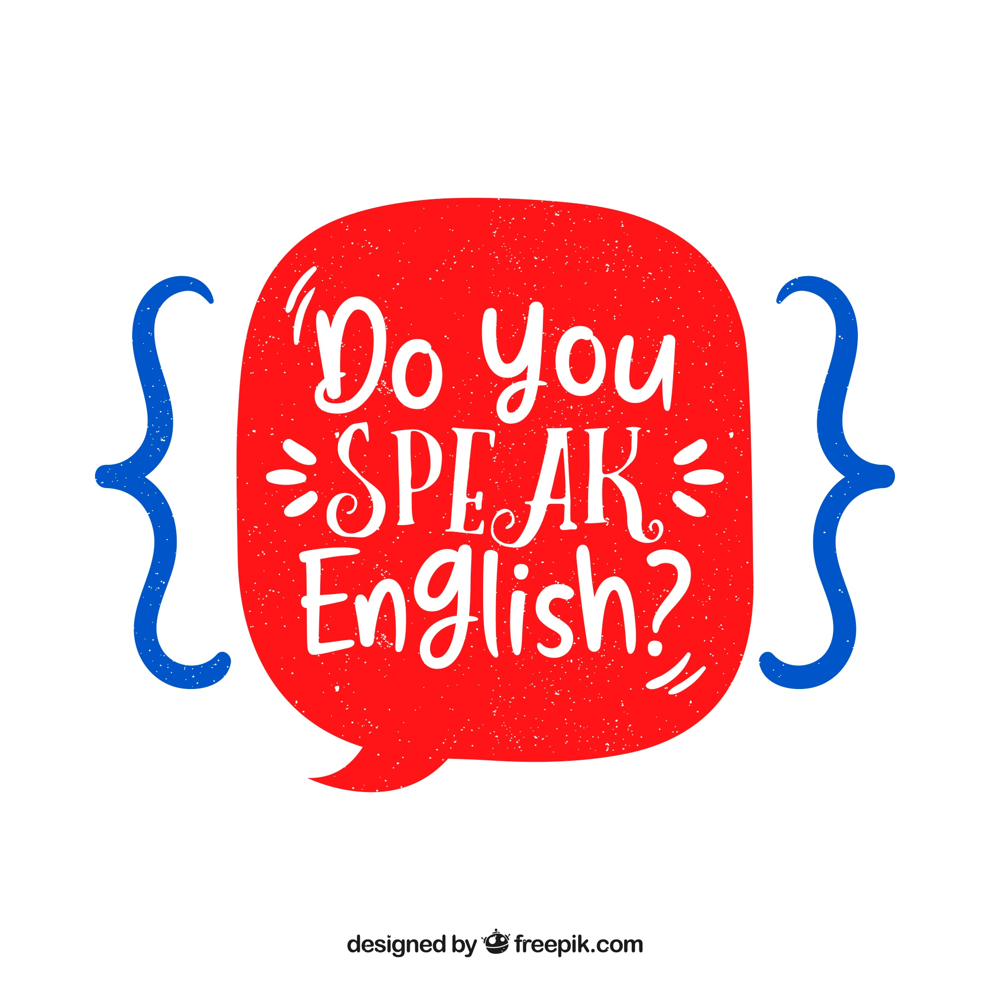 Do you speak english question with hand drawn style