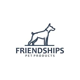 ドーベルマン犬のロゴのテンプレート