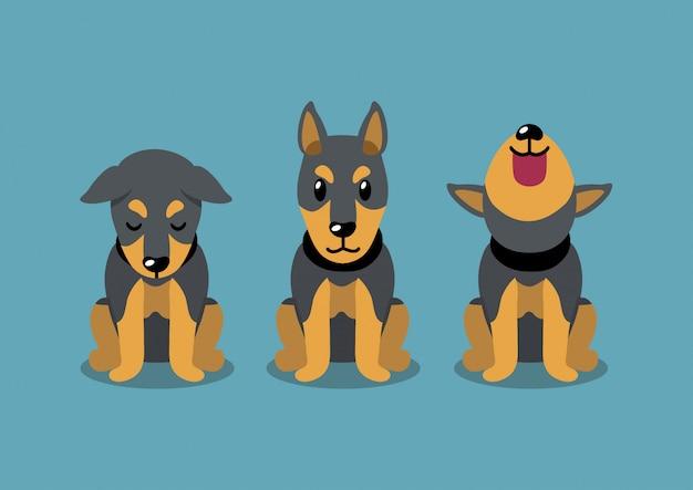 ドーベルマン犬のポーズ、漫画のキャラクター