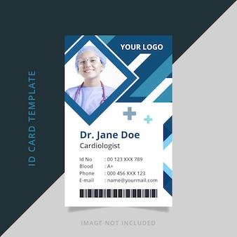 Doctor abstract id card template