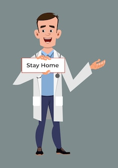 Doctor advice for stay home, coronavirus prevent advice