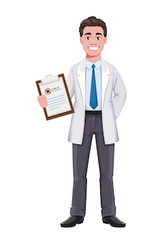 의사 만화 캐릭터 흰색 절연