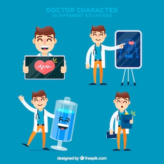 Doctor character collection in different situations