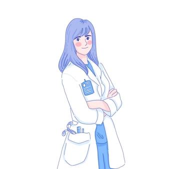 Doctor character design of vector.