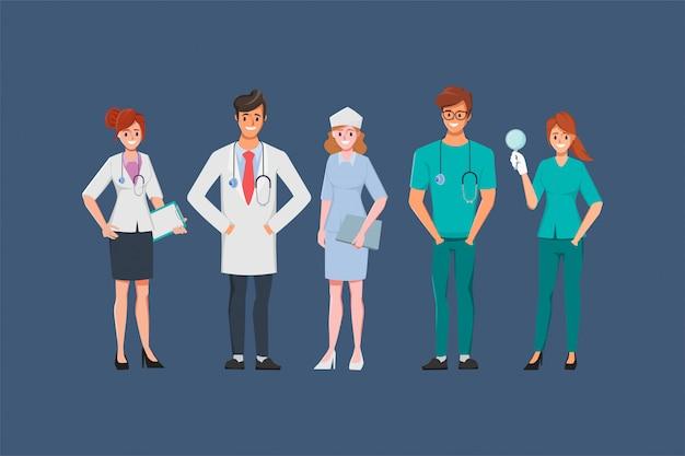 Доктор характер медицинских людей в больнице анимированные.