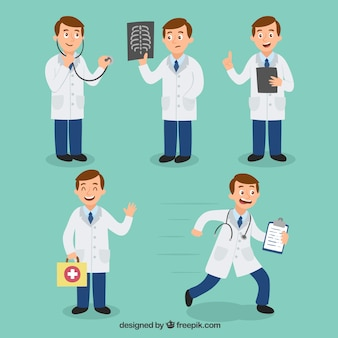 Doctor character set of five
