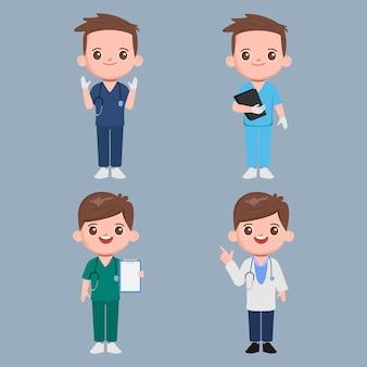 의사 캐릭터 세트