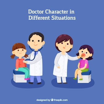 Doctor characters in different situations