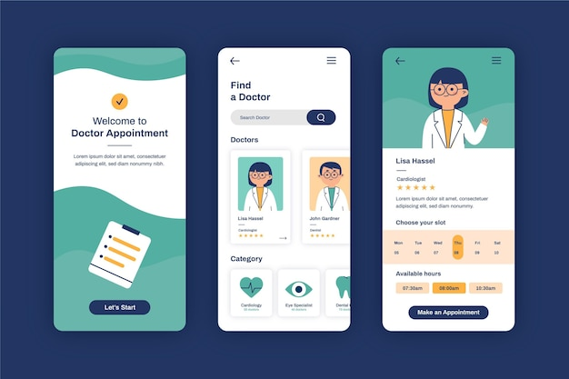 Doctor and clipboard medical booking shop
