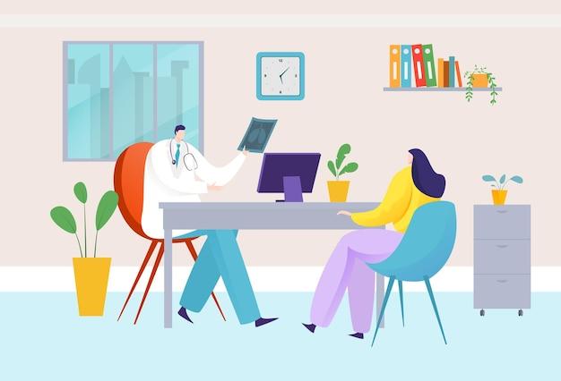 Консультация врача в офисе больницы