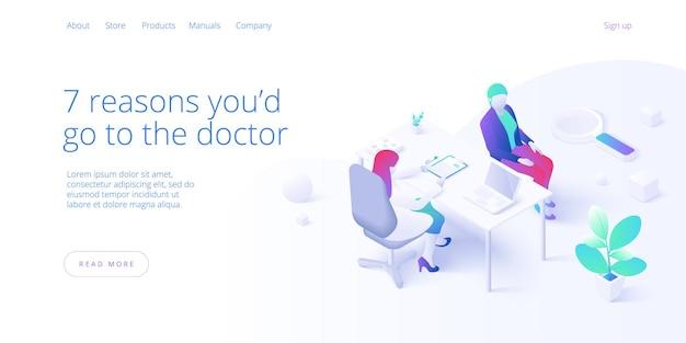 医師の診察または訪問の概念。女性医師または女性患者に処方箋を与える医師。