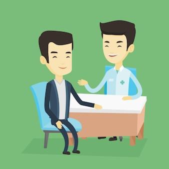 オフィスで医師相談男性患者。