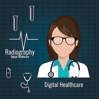 Doctor digital healthcare radiography