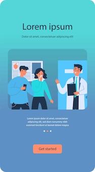 患者に診断を説明する医師