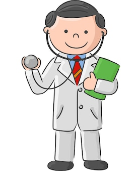 Doctor holding blank sign and stethoscope
