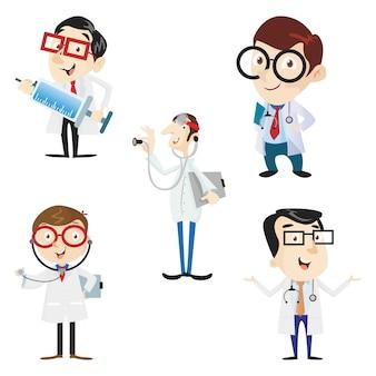 DOCTOR HOSPITAL HEALTH MEDICAL WORKER CARTOON CHARACTER VECTOR ILLUSTRATION