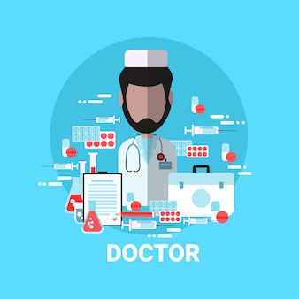 Doctor icon medical worker profile avatar concept