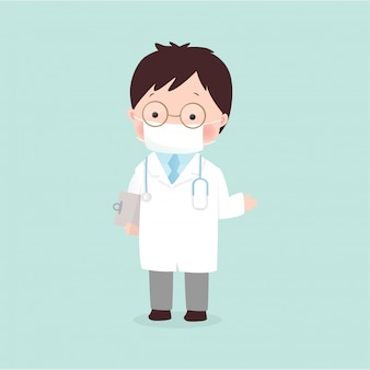 Doctor illustration in flat style