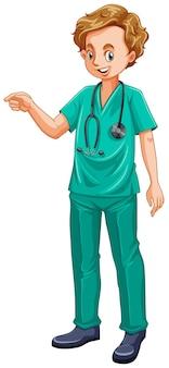 녹색 제복을 입은 의사