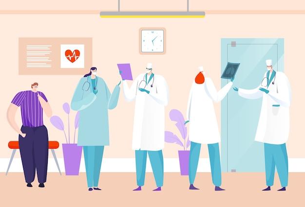 Врач в интерьере больницы