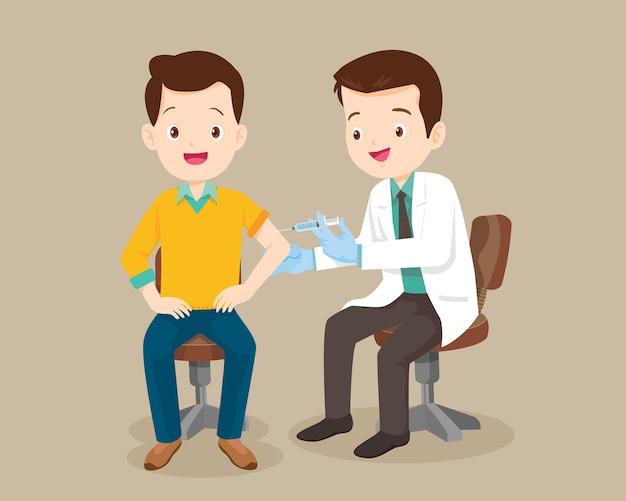 Докторская инъекционная вакцина для мужчин