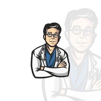 Doctor mascot illustration