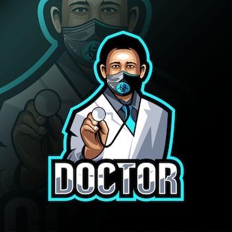 Doctor mascot logo esport design